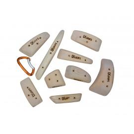 LX Grips - Holz-Klettergriffe Sets