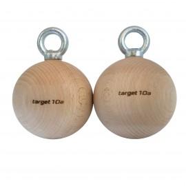 Spheres mit Stahlring - Holzkugeln fürs Klettertraining