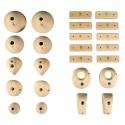 Symmetric Wood Holds - 24 Symmetric Wood Climbing Holds