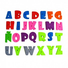 Children's Climbing Holds: Letters in the full alphabet