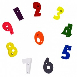Children's climbing holds: Numbers from 0 to 9