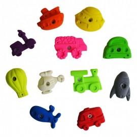 "Children's climbing holds: 11 holds theme ""vehicles"""