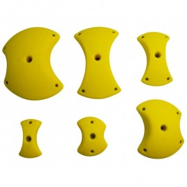 6 XL Pinches - climbing holds for 0-40° walls
