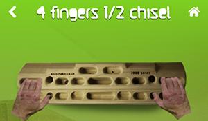 4 Finger 1/2 angewinkelt
