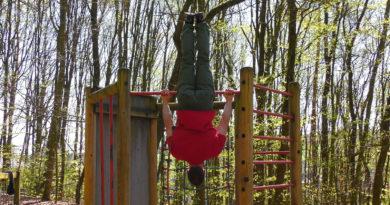 Klettertraining: Aufroller an der Klimmzugstange