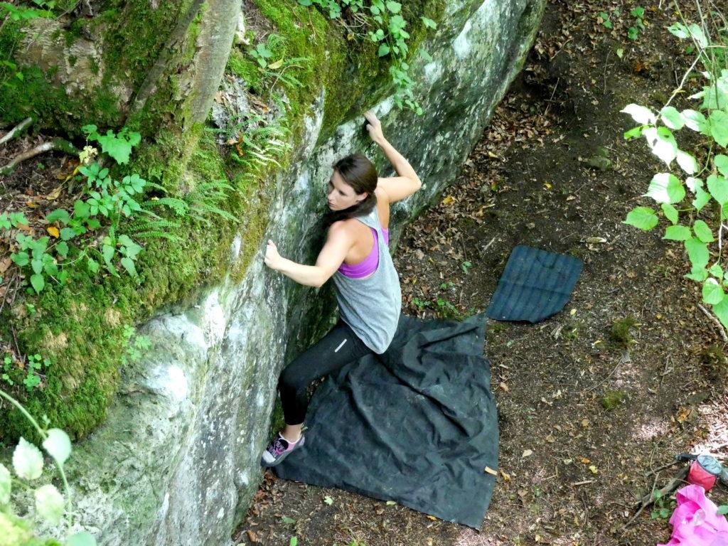 Bouldern macht Spaß und geht auch notfalls alleine!