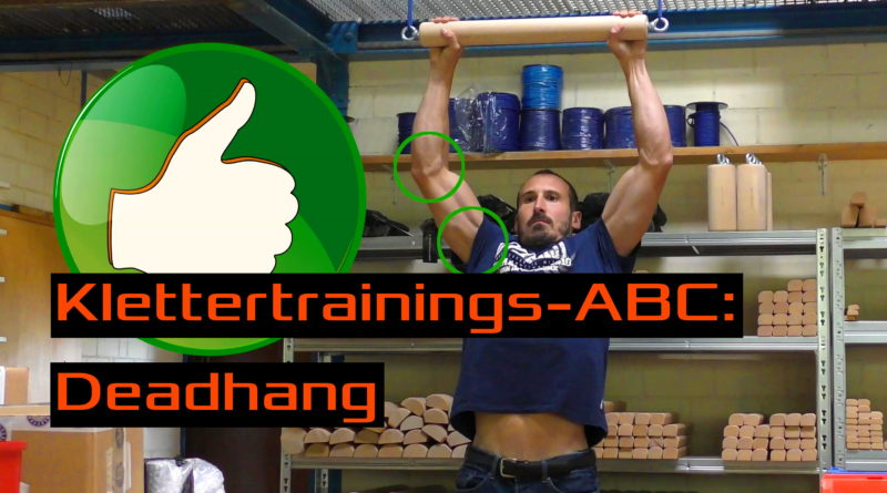 Klettertrainings-ABC: Deadhang