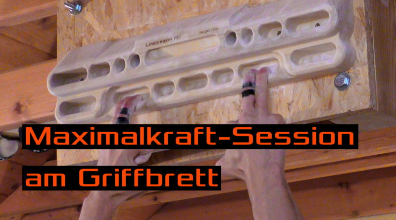 Video - Eine typische Maximalkraft-Session am Trainingsboard