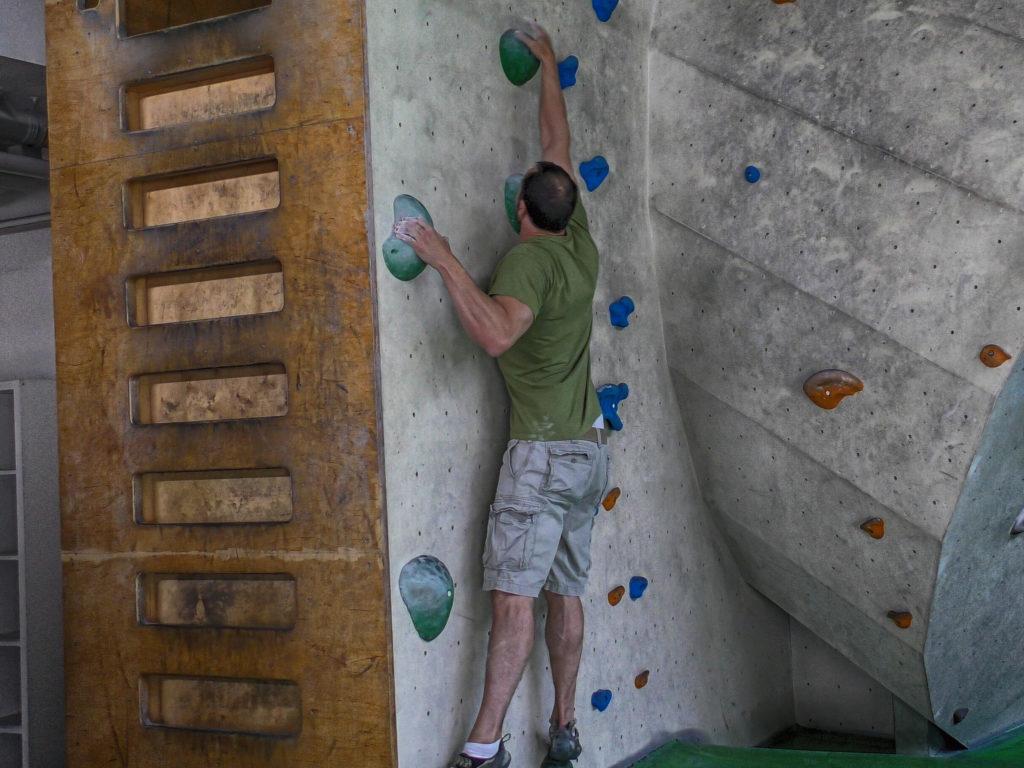 Technikfehler Klettern: Vergessen weiter zu treten