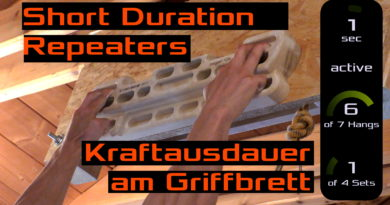 Kraftausdauer #6: Kraftasudauer am Trainingsboard mit dem Short-Duration-Repeaters Protokoll