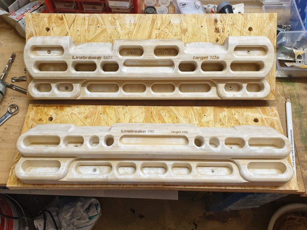 Trainingsboard-Montage: Die Wechselplatten mit montierten Boards