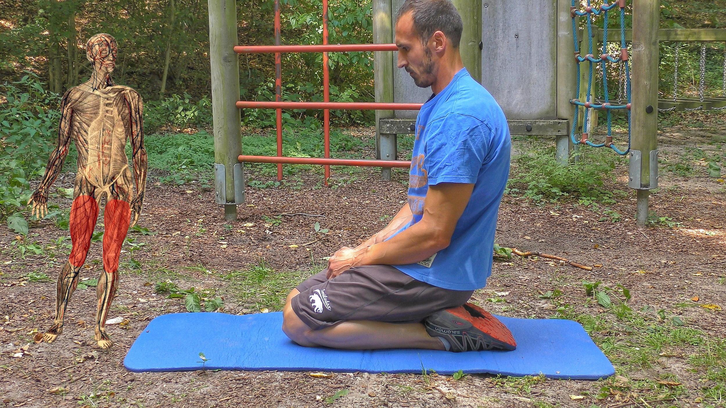 Verletzungsprophylaxe durch Beweglichkeit - Übung 02 - Oberschenkel vorne, Knie