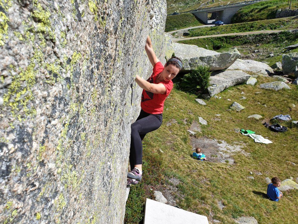 Bouldern auf dem Gotthardpass