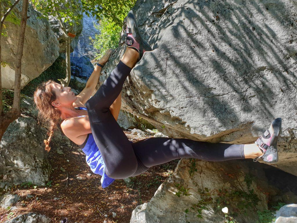 Bouldern am Monte Albano in Italien