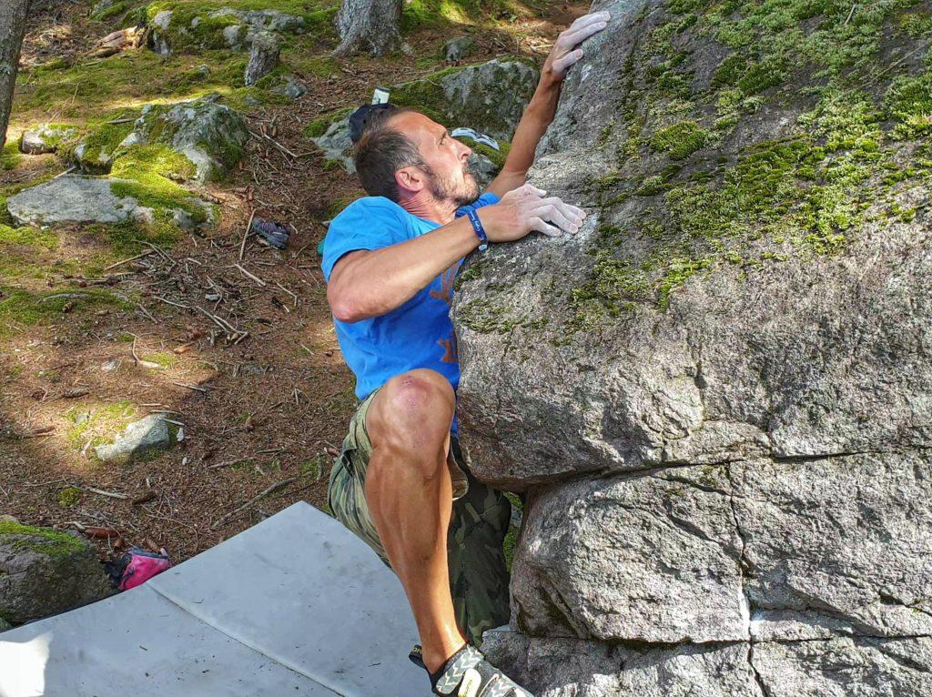 Bouldern in Pontives - Dolomiten